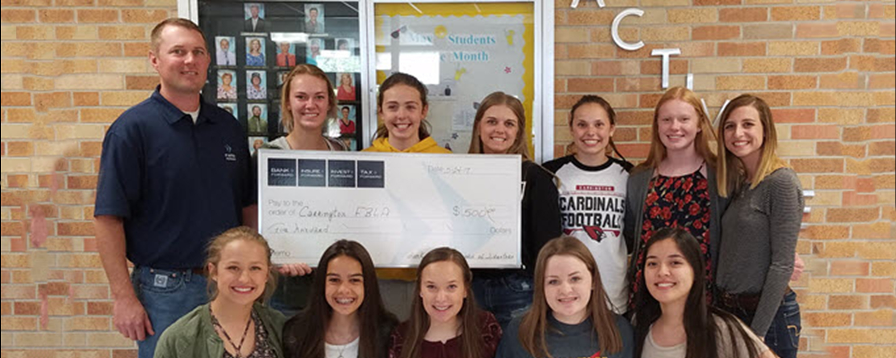 Bank Forward Donates $500 to Carrington FBLA