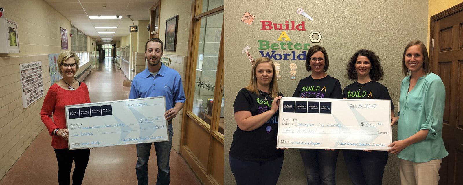 Bank Forward Donates $1,000 to Local Summer Reading Programs