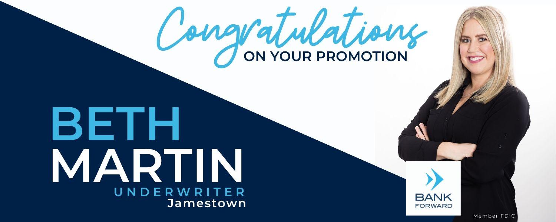 Beth Martin Promoted at Bank Forward