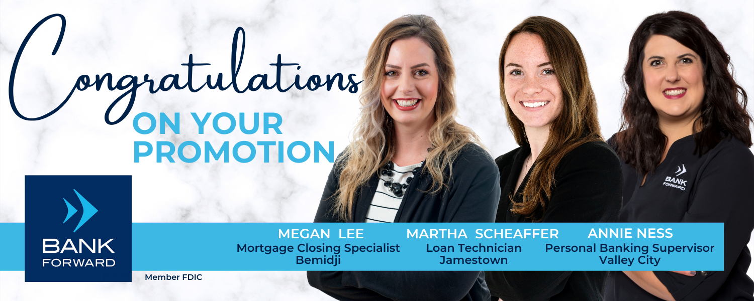 Lee, Scheaffer, and Ness Promoted at Bank Forward