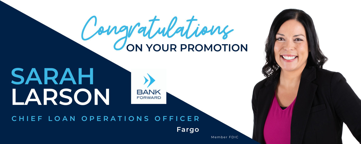 Sarah Larson Promoted at Bank Forward