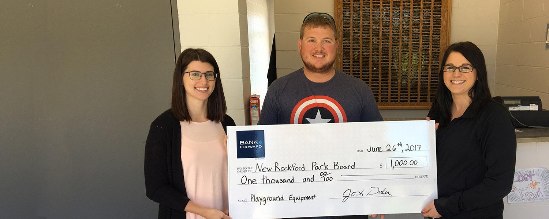 Forward Foundation Donates $1,000 to New Rockford Park Board