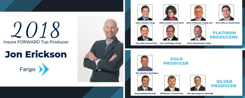 Insure FORWARD Names 2018 Top Producers