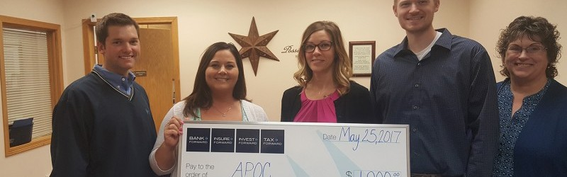 Bank Forward Donates $1,000 to Abused Persons Outreach Center