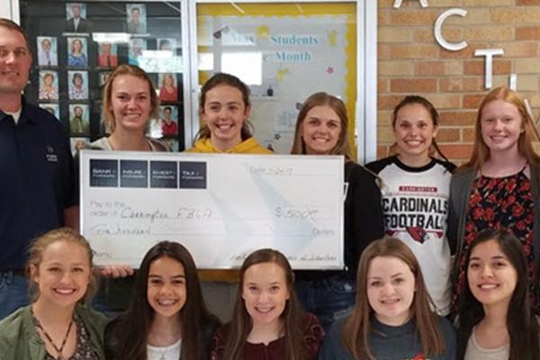Bank Forward Donates $500 to Carrington FBLA