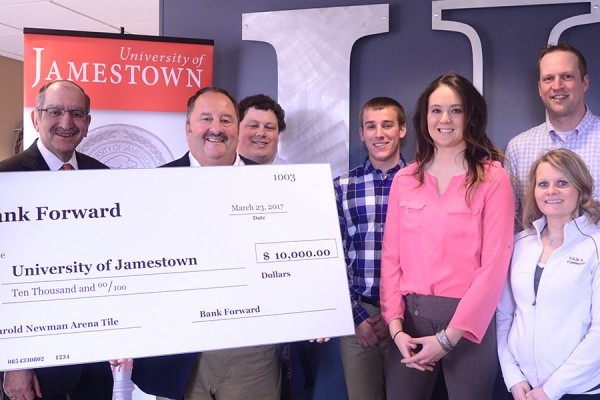 Bank Forward donates $10,000 to University of Jamestown