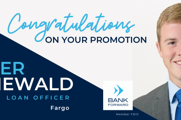 TANNER GRUNEWALD PROMOTED AT BANK FORWARD