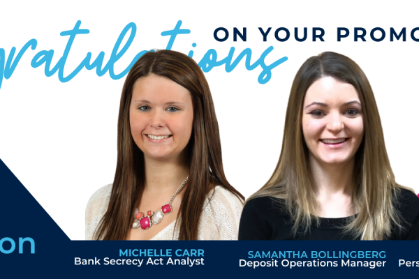 Carr, Bollingberg and Bruer Promoted at Bank Forward