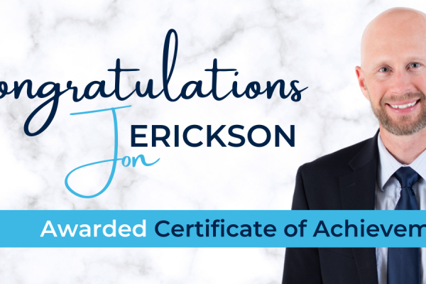 Certified Risk Managers Honors Jon Erickson for Five-Years of Dedicated Leadership and Professional Development