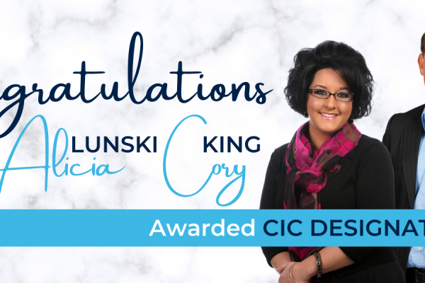 Lunski & King Awarded CIC Designation