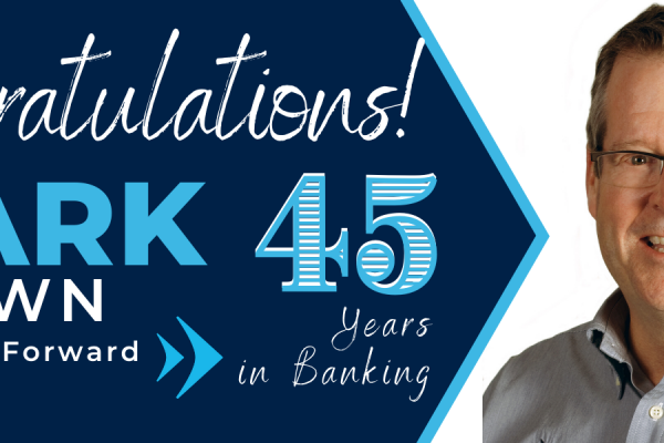 Brown Celebrates 45-Years in Banking