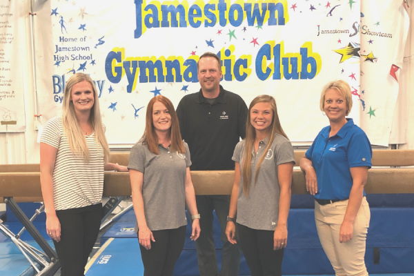 Forward Foundation Supports Jamestown Gymnastic Club